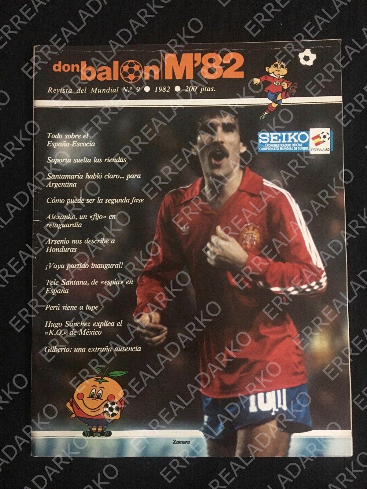 REVISTA DON BALON Nº9 FUTBOL MUNDIAL 82 ESPAÑA 1982