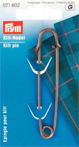 Prym kiltnadel latón inoxidable 76mm bronce 1 unid 071602