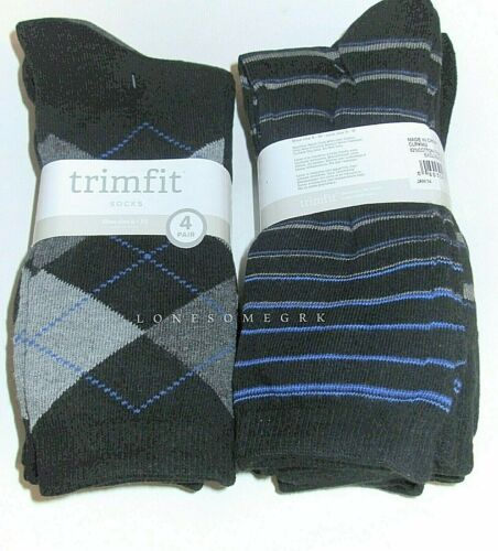 4 Pairs Womens Trimfit Soft Cotton Blend Crew Trouser Assorted Socks New w// Tags