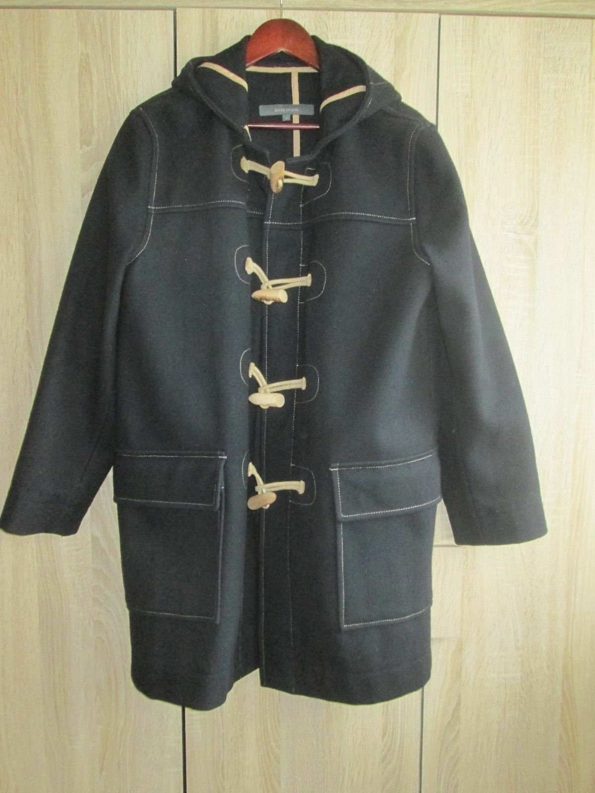 Para Hombre River  Island Azul Marino Oscuro Woolmark Duffle Coat Talla Pequeña  70% de descuento