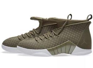 Nike Air Jordan 15 XV Retro PSNY Woven Olive Green Size 10 AO2568 ... 892fbcf72