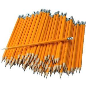 12 Bleistifte mit Radierer Härtegrad HB Stift Bleistift Radiergummi /& Anspitzer