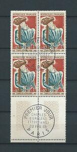 CELEBRITES-1965-YT-1445-TIMBRES-OBL-USED