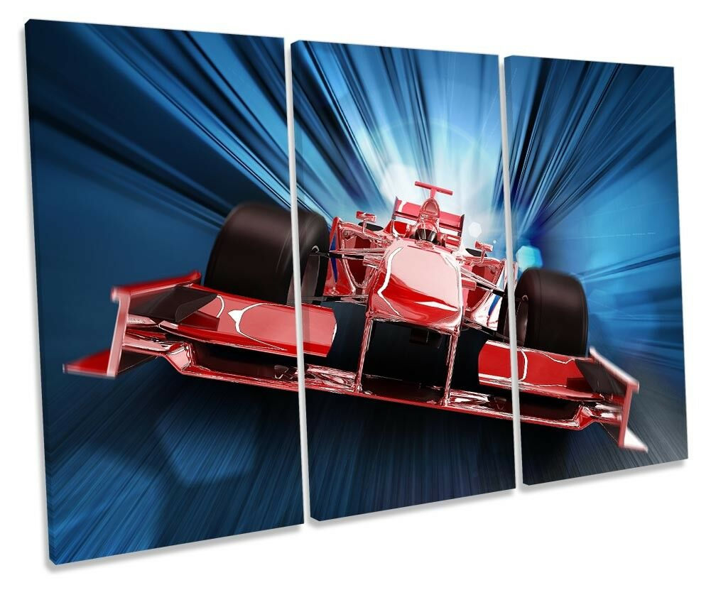 Formula One F1 Race Car Picture TREBLE CANVAS WALL ART Print