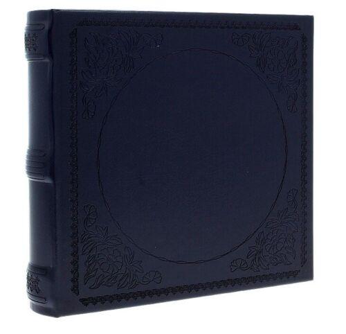 "Navy Blue Eco Leather Slip In Photo Album Holds 200 6/"" x 4/"" Photos Memo Area"
