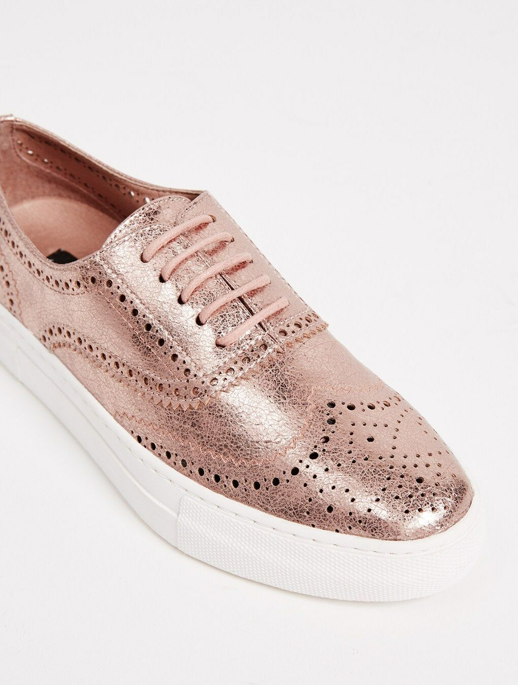 Steven by Oxford Steve Madden Allister Platform Oxford by Sneaker Schuhes Rose Gold Größe 9 b98b67