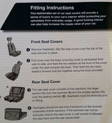 Sp Aveo Bloomsbury Grey Leather Look 8 PCE Car Seat Covers For Chevrolet Alero