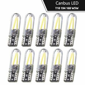 10X-ampoules-a-DEL-T10-2-W-COB-W5W-501-194-168-cote-lumiere-verre-License-Plate-Light