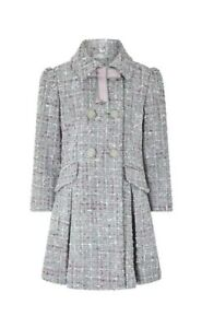 Filles-Monsoon-Tabitha-Tweed-Gris-Ecole-Manteau-Taille-Age-3-To-13-ans-RRP-65