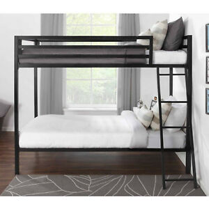 Mainstays Premium Twin Over Full Bunk Bed Black New