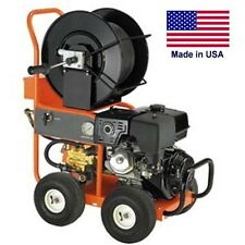 Pressure Washer & Water Jetter - Drain & Sewer - Gas - 4 GPM - 3,000 PSI - 13 HP