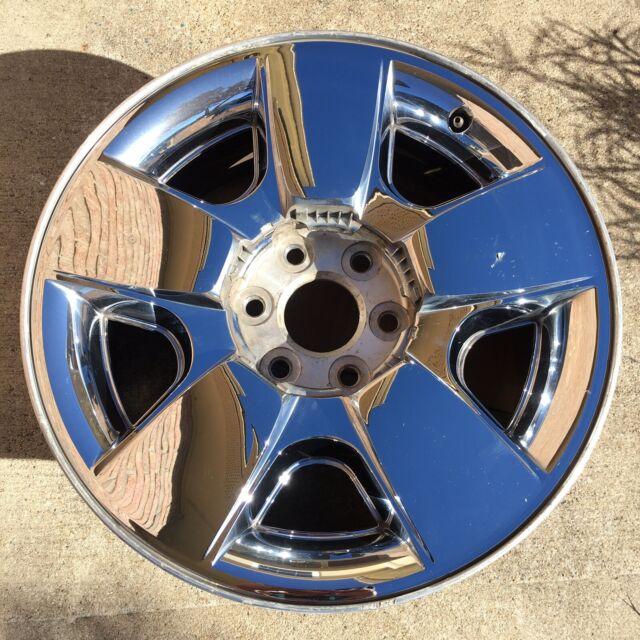 2009-2013 Chevy Silverado Tahoe Factory Chrome Wheel 20 ...