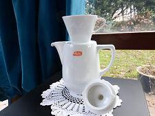 Melitta große alte Kaffeekanne 2 Liter +  Kaffeefilter 102/ 1 Loch  Porzellan