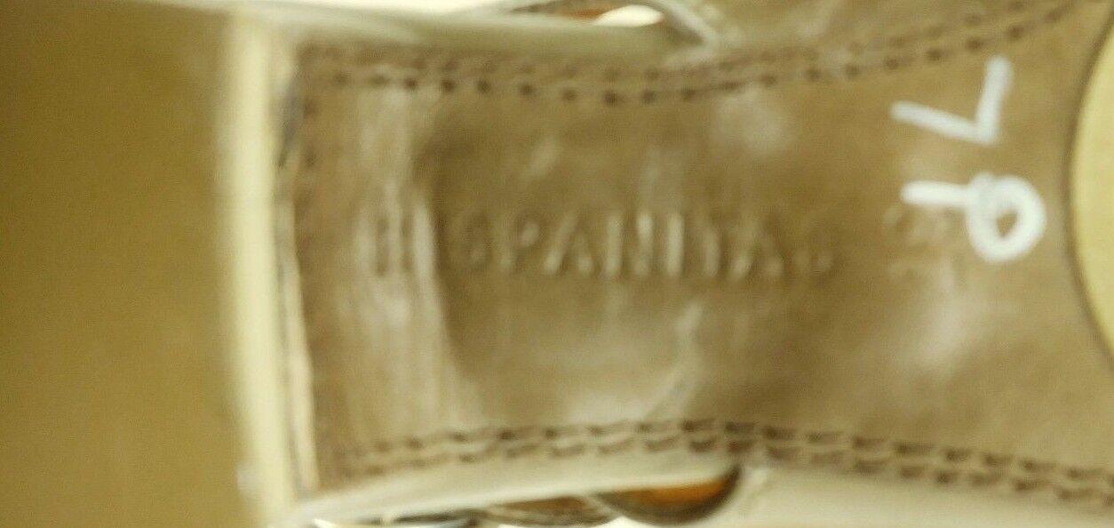 Hispanitas Wos Slingbacks Heels EU EU EU 37 US 7 Brown Leather Sandals Peep Toe 4984 046c81