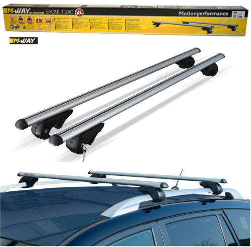 M-Way Lockable Aluminium Car Roof Rack Rail Bars to fit Ford Transit Courier 14+