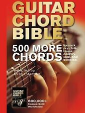 The Guitar Chord Bible : 500 More Chords by Phil Capone (2015, Hardcover)