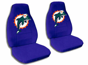 Marvelous Details About 2 Cool Miami Dolphin Car Seat Covers Dark Blue Awesome Pabps2019 Chair Design Images Pabps2019Com