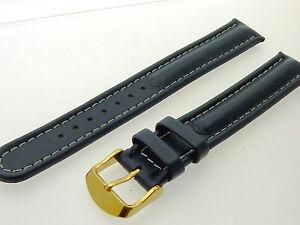 # L090 # Uhrenarmband Armband Leder Extra Lang Bracelet Leather Extra Long 18 Mm