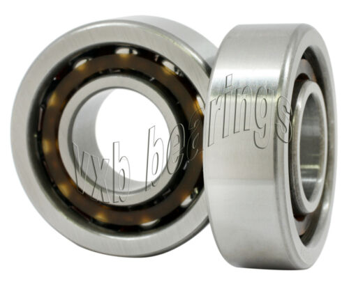 2 Angular Contact 7208B 40x80x18 40mm//80mm//18mm Ball Screw Spindle Ball Bearings