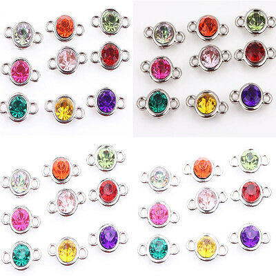 New 20/100Pcs Acrylic Mixed Spacer Bead Connector 8/10mm Jewelry Findings Craft