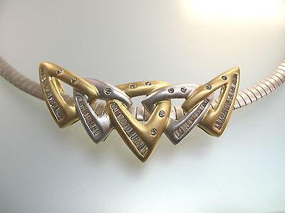"Labradorite Horn Pendant w// Gold Bail 1.75/"" HO18DG"