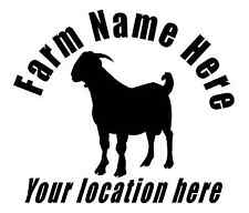 Custom decal sticker with your name and location Boer Goat Farm