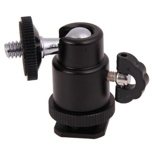 "Photography Swivel Mini Ball Head 1//4/"" Screw for Camera Tripod Monopod Tools Lin"