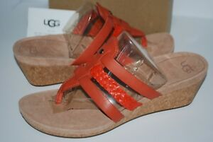 1c7b18e379 Image is loading NIB-UGG-AUSTRALIA-MADDIE-1016764-ESPADRILLE-WEDGE-SANDALS-