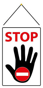 Stop-Tin-Sign-Shield-Arched-with-Cord-Metal-7-7-8x11-13-16in-FA1113-K