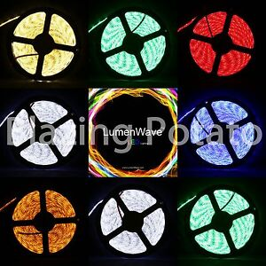 LumenWave-5M-RGB-5050-SMD-IP65-Waterproof-LED-Flexible-Strip-Lights-White-PCB