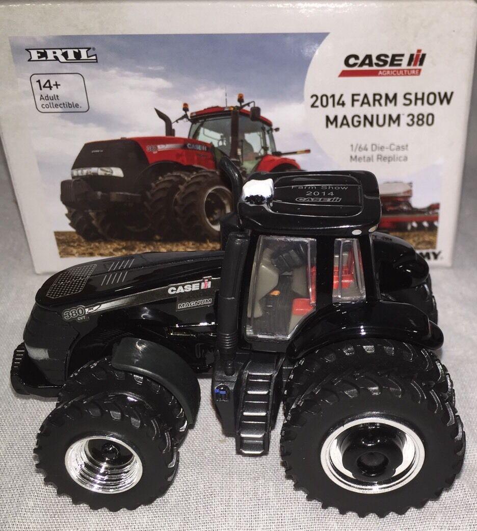 ERTL Case IH Magnum 380 2014 Farm Show Noir  Chaser  1 64 NEW IN BOX