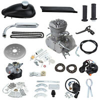 Bicycle Motorized 2 Stroke Cycle Silver Motor Silver Engine Kit 80cc Push Bike