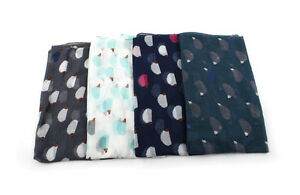Four-Color-Hedgehog-Print-Infinity-Loop-Scarf-Women-039-s-Accessories-Gift-Scarves