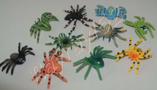 Plastic spider spiders High colour details select quantity FREE POST UK SELLER