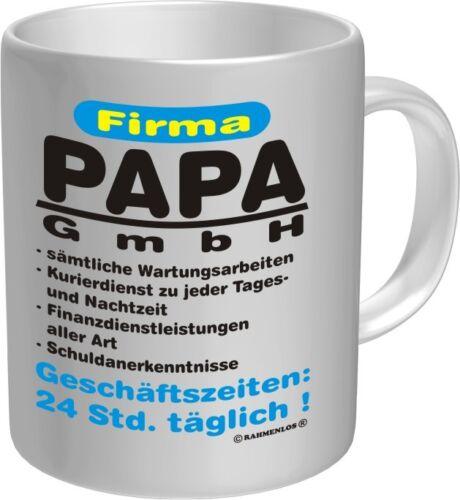Tasse Fun tasse société papa GmbH gobelet proverbes père Anniversaire Fête des pères