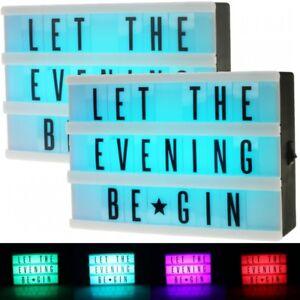 Details Zu 2x Led Lightbox Leuchtbox Leuchtkasten Leuchtreklame Light Box Inkl 66 Zeichen