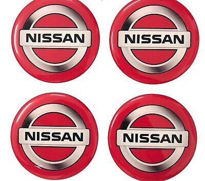 Aufkleber 4 psc x 55 mm Emblem Nissan Nabendeckel Radkappen
