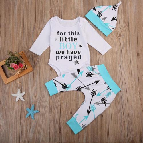 EG /_3pcs Neugeborene Kind Baby Jungen Mädchen Strampler Tops Lange Hose Hut