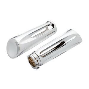 NESS-ARLEN-Deep-Cut-manejas-cromo-Billet-Aluminio-HARLEY-Davidson