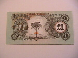 1968-69 Biafra 1 One Pound Choice CU Paper Money Eastern Nigeria Banknote