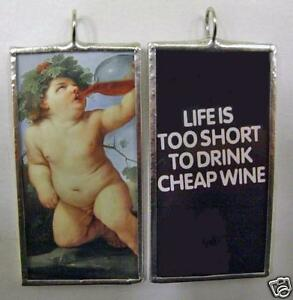 BACCHUS-DRINK-WINE-DOUBLE-SIDED-ART-GLASS-PENDANT