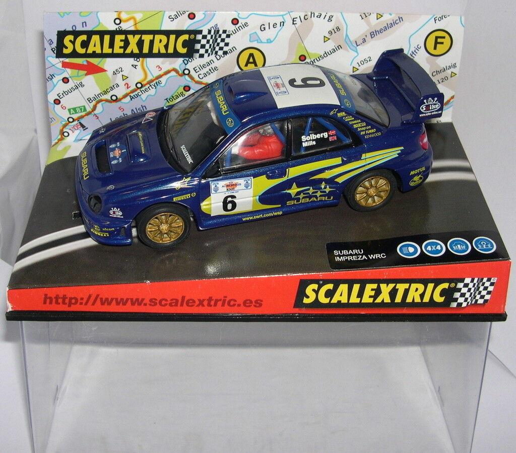 SCALEXTRIC 6080 SUBARU IMPREZA WRC  ACROPOLIS 2001  SOLBERG-MILS MB