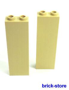 LEGO-2-Pezzi-beige-1x2x5-Mattoncini-muro-Colonna-Montante-Struttura-base