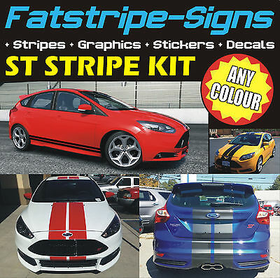 FORD FOCUS ST STRIPES MK3 CAR GRAPHICS STICKERS DECALS ALLOYS VINYL 2.0 TURBO