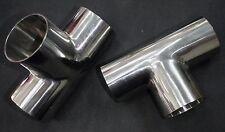 """STAINLESS STEEL WELD TEE 3"""" SANITARY PIPE TUBING 76mm"""