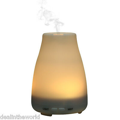 Home Clear Bottle Color Changing Light 100ML Essential Oil Diffuser Air Purifier