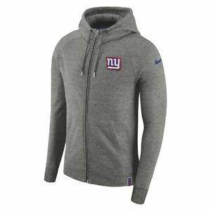 quality design 62ea0 3771b Details about New York Giants Full-Zip Hooded NFL Sweatshirt Medium Grey  TD081 MM 06