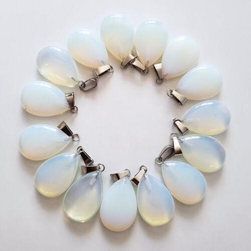 Wholesale 50pcs//lot Natural opal stones Water drop Charms P Pendants Beads