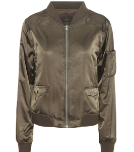 b91dd767e Details about PAIGE Blix Bomber w/ Embroidery, City of Angels, Olive, Size  Small, NWT