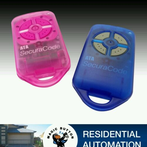 4 Pack Garage Gate remote genuine ATA PTX4 Pack 2 Pink & 2 Blue Keyring Style